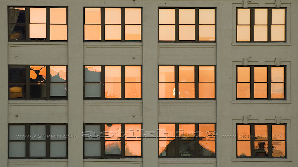 Reflection in windows.