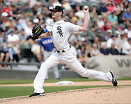 CHICAGO - AUGUST 06:  Chris Sale of the Chicago White Sox pitches against the Texas Rangers on August 6, 2014 at U.S. Cellular Field in Chicago, Illinois.  (Photo by Ron Vesely)