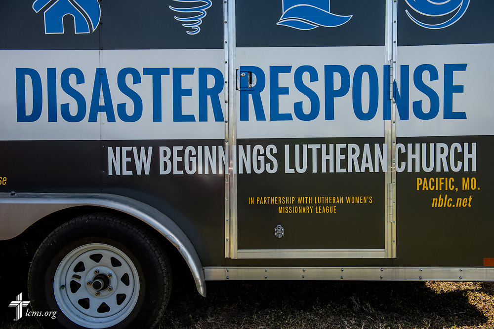 A disaster response trailer from New Beginnings Lutheran Church, Pacific, Mo., on Saturday, March 4, 2017, in Perryville, Mo. LCMS Communications/Erik M. Lunsford