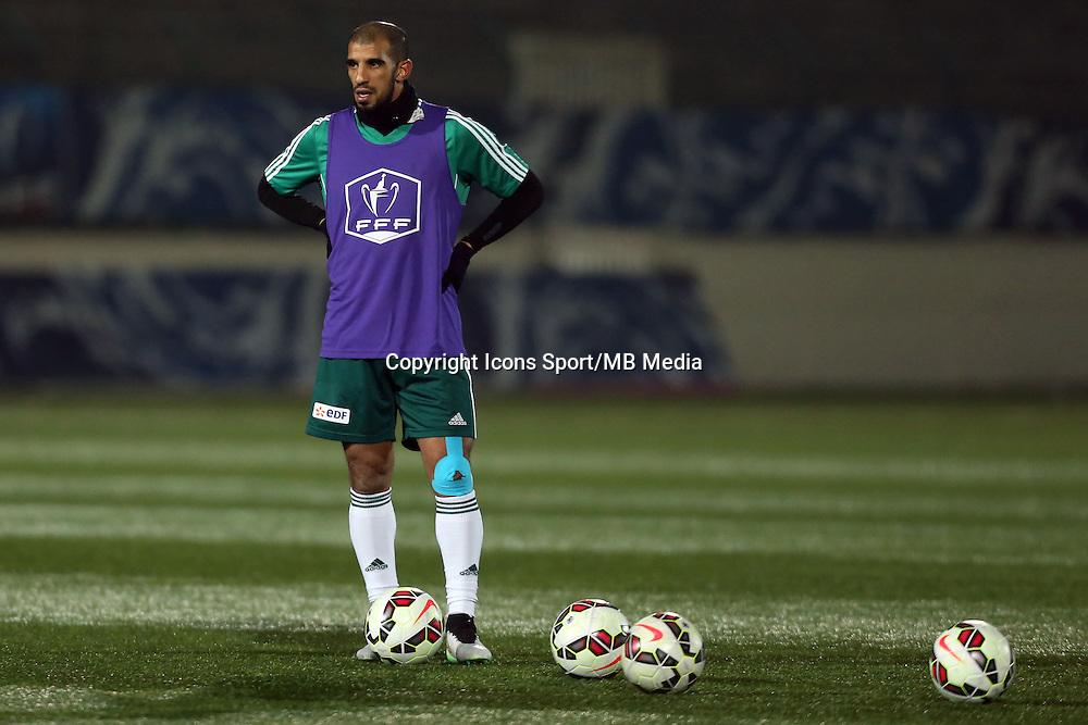 Hameur BOUAZZA  - 23.01.2015 - Red Star / Marseille Consolat - Coupe de France<br /> Photo : Sebastien Muylaert / Icon Sport