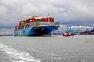 Nederland Rotterdam 19 mei 2017 Aankomst MOL Triumph het eerste containerschip met een capaciteit va