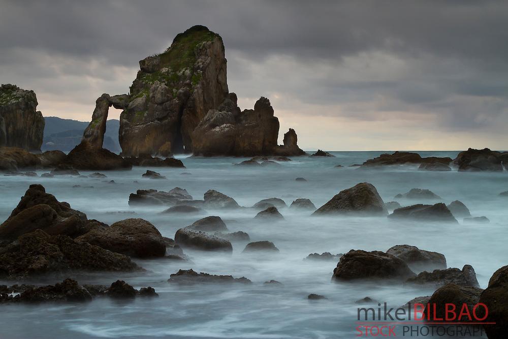 Coastline in San Juan de Gaztelugatxe.<br /> Bermeo, Biscay, Basque Country, Spain.