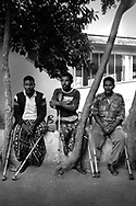 Former Eritrean fighters injured in their 30-year war of independence against Ethiopia and their current  border war with the same country at a rehabilitation camp south of the capital Asmara.