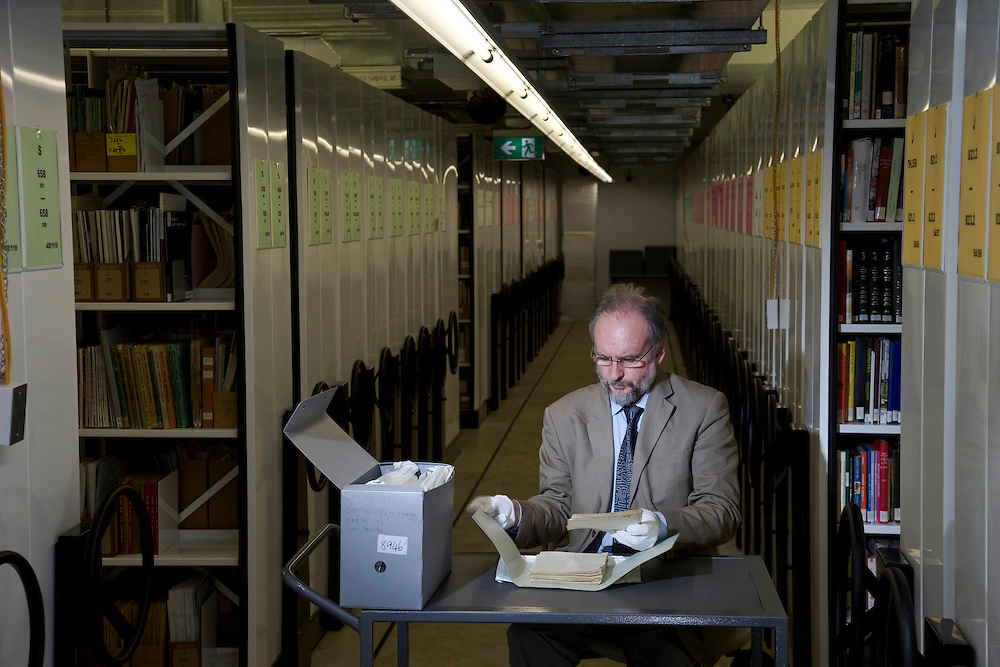 John Oxley Library in Brisbane Professor Paul Turnball wih the Wills DiaryBy Korah Halcomb Wills in the archive where the diary is kept.