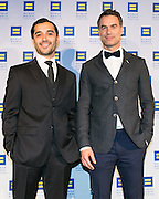 """Frankie Alvarez and Murray Bartlett, actors of HBO series """"Looking"""" at the HRC's Greater NY Gala 2014 held at the Waldorf=Astoria in New York City on Saturday, February 8, 2014. (Photo: JeffreyHolmes.com)"""