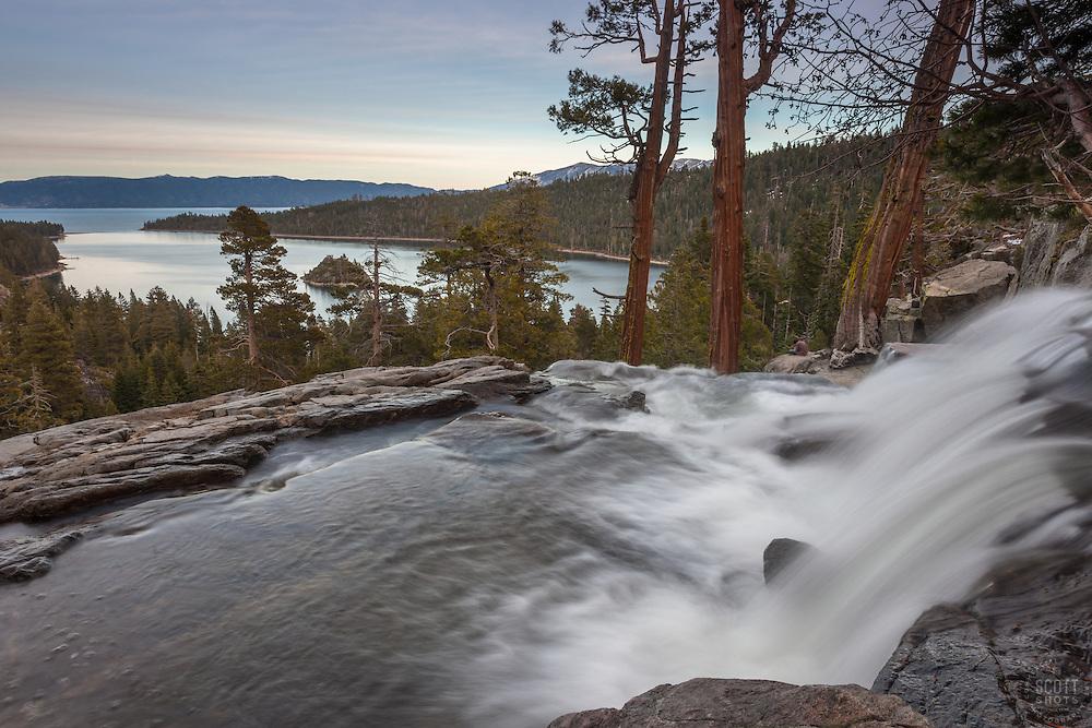 """""""Eagle Falls at Emerald Bay 1"""" - Photograph of Eagle Falls and Emerald Bay, Lake Tahoe."""