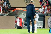ROTTERDAM - Feyenoord - FC Utrecht , Voetbal , Seizoen 2015/2016 , Eredivisie , Stadion de Kuip , 08-08-2015 , Speler van Feyenoord Rick Karsdorp verlaat het veld na zijn rode kaart