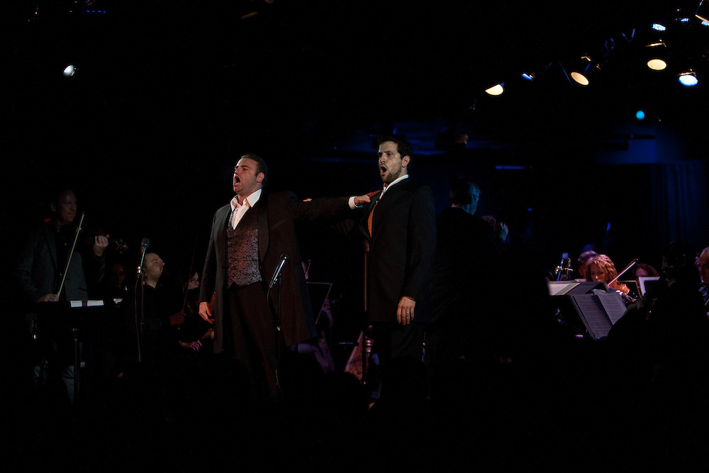 Tenor Joseph Calleja performing with Luca Pisaroni, bass-baritone, at Le Poisson Rouge on October 24, 2011.