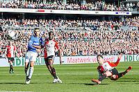 ROTTERDAM  - Feyenoord - PSV , eredivisie , voetbal , Feyenoord stadion de Kuip , seizoen 2014/2015 , 22-03-2015 , Feyenoord speler Anass Achahbar scoort de 1-0
