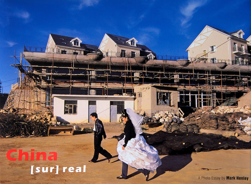 Book cover: China [sur]real by Mark Henley.A photographic essay. Published by Timezone8..With an Introduction by Ed Lanfranco..ISBN10 988-99265-6-3.ISBN13 978-988-99265-6-4