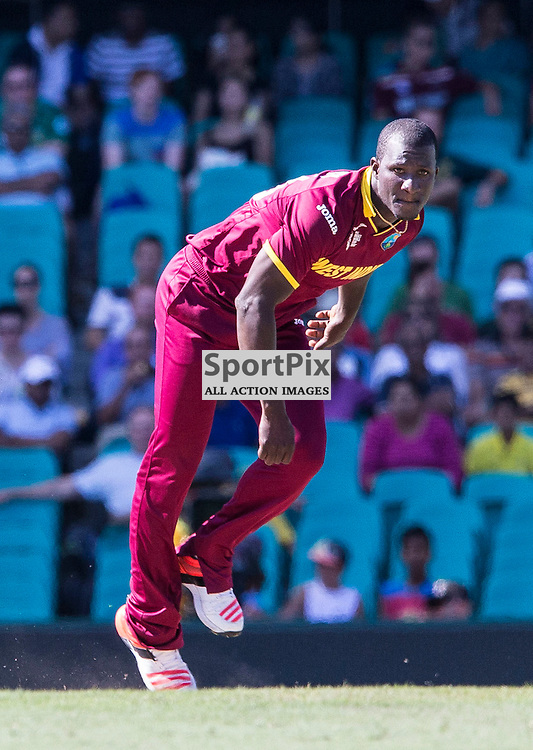 ICC Cricket World Cup 2015 Tournament Match, South Africa v West Indies, Sydney Cricket Ground; 27th February 2015<br /> West Indies Darren Sammy