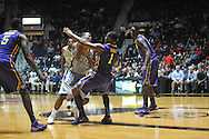 "Mississippi's Jarvis Summers (32) vs. LSU's Anthony Hickey (1) at the C.M. ""Tad"" Smith Coliseum in Oxford, Miss. on Wednesday, January 15, 2013. Mississippi won 88-74 in overtime."