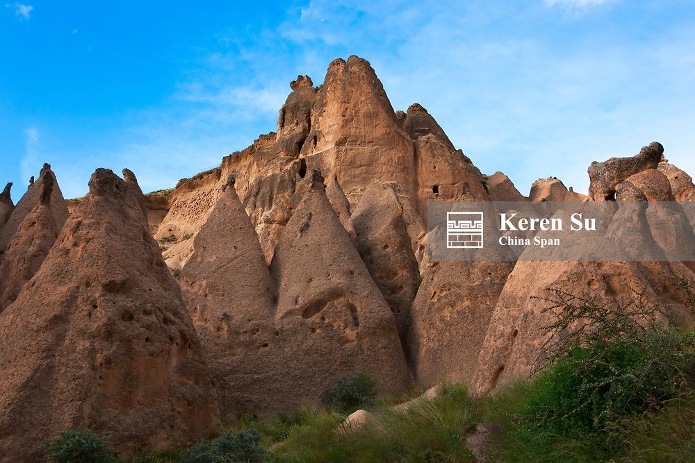 Rock formation in Cappadocia, Central Anatolia, Turkey