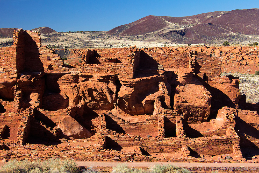 North America, USA, Arizona, Wupatki National Monument. Wupatki Pueblo, the largest dwelling in the region.