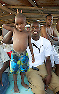 Usain Bolt with Camali on Hellshire Beach, Kingston /Jamaica April'09