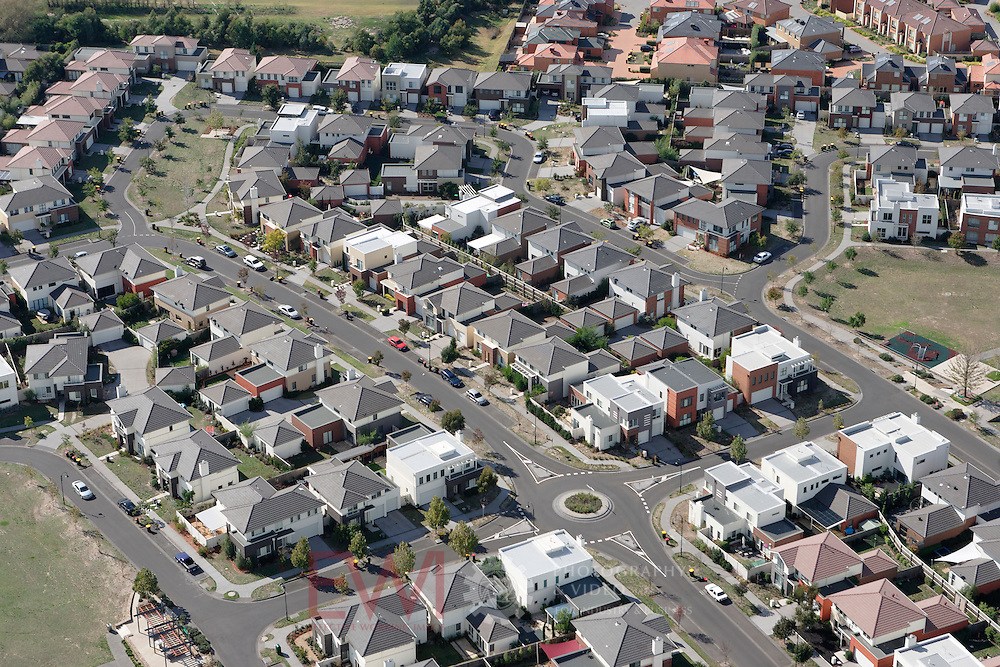 Aerial view of new housing development, Melbourne Victoria.<br />