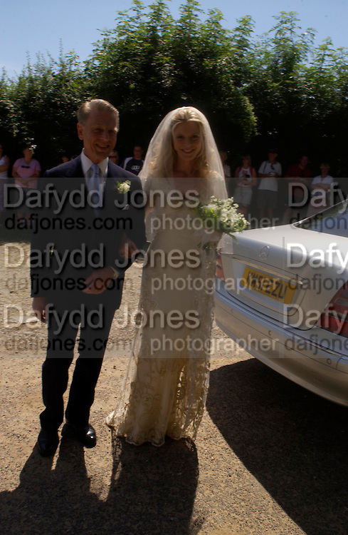 edward fox with the bride