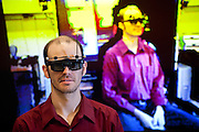 University of California, Davis Assistant Research Scientist Oliver Kreylos hacked an Xbox Kinect to create a 3D interface in his lab at UC Davis, November 19, 2010.
