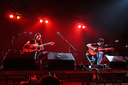 Rodrigo y Gabriela performs during the first day of the 2007 Bonnaroo Music & Arts Festival on June 14, 2006 in Manchester, Tennessee. The four-day music festival features a variety of musical acts, arts and comedians..Photo by Bryan Rinnert