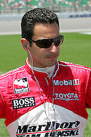 Helio Castroneves at the Kansas Speedway, Kansas Indy 300, July 3, 2005