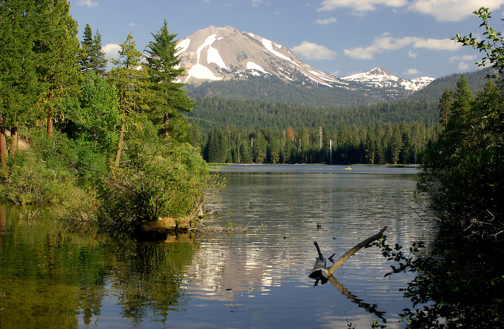 Manzanita Lake and Lassen Peak, Lassen Volcanic National Park, California, United States of America