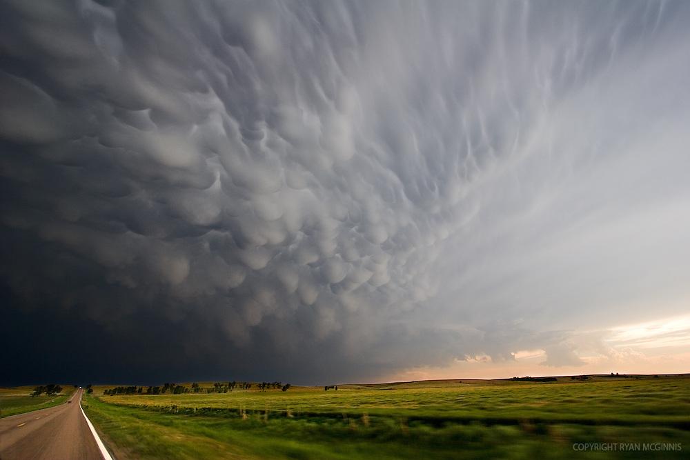 Mammatus clouds over central Kansas, May 26, 2006.