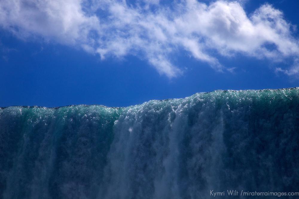 Canada, Ontario, Niagara Falls. Edge of Niagara Falls and Sky.