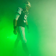 New York Jets quarterback Bryce Petty (9) in the tunnel during an NFL regular season game against the Miami Dolphins on Saturday, Dec. 17, 2016 in East Rutherford, N.J. The Dolphins won, 34-13. (Ric Tapia via AP)