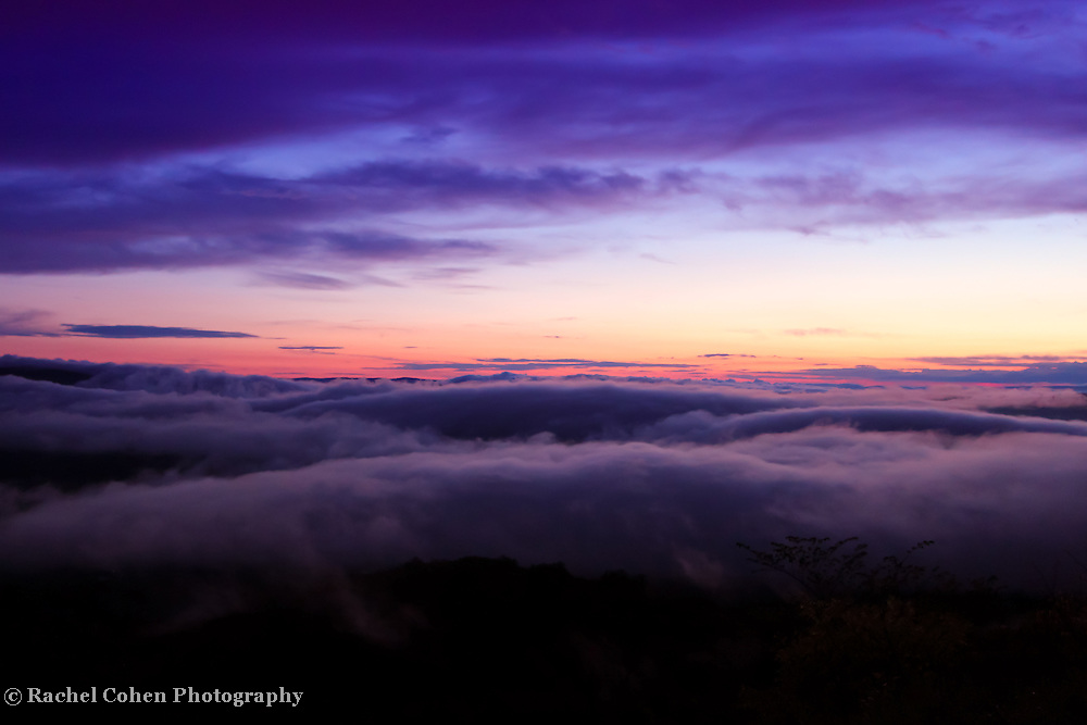 &quot;Depth of Time&quot;<br /> <br /> Swiftly moving fog and low clouds move across the ridges and valleys in Shenandoah National Park at sunset!!<br /> <br /> The Blue Ridge Mountains by Rachel Cohen