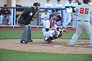 Ole Miss catcher Will Allen (30) vs. Arkansas State in baseball action at Oxford-University Stadium in Oxford, Miss. on Tuesday, February 21, 2012. Ole Miss won the home opener 8-1 to improve to 2-1 on the season. Arkansas State dropped to 0-3.