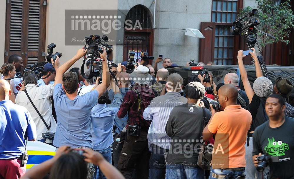 CAPE TOWN, SOUTH AFRICA - Monday 6 October 2014, Vinod Hindocha, father of deceased Anni Dewani, arrives at court with his family during Day 1 of the Shrien Dewani trial at the Cape High Court before Judge Jeanette Traverso. Dewani is caused of hiring hit men to murder his wife, Anni. Anni Ninna Dewani (n&eacute;e Hindocha; 12 March 1982 &ndash; 13 November 2010) was a Swedish woman who, while on her honeymoon in South Africa, was kidnapped and then murdered in Gugulethu township near Cape Town on 13 November 2010 (wikipedia).<br /> Photo by Roger Sedres