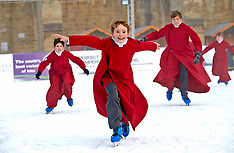 DEC 11 2013 Boy Choristers from the Pilgrim School Winchester skating