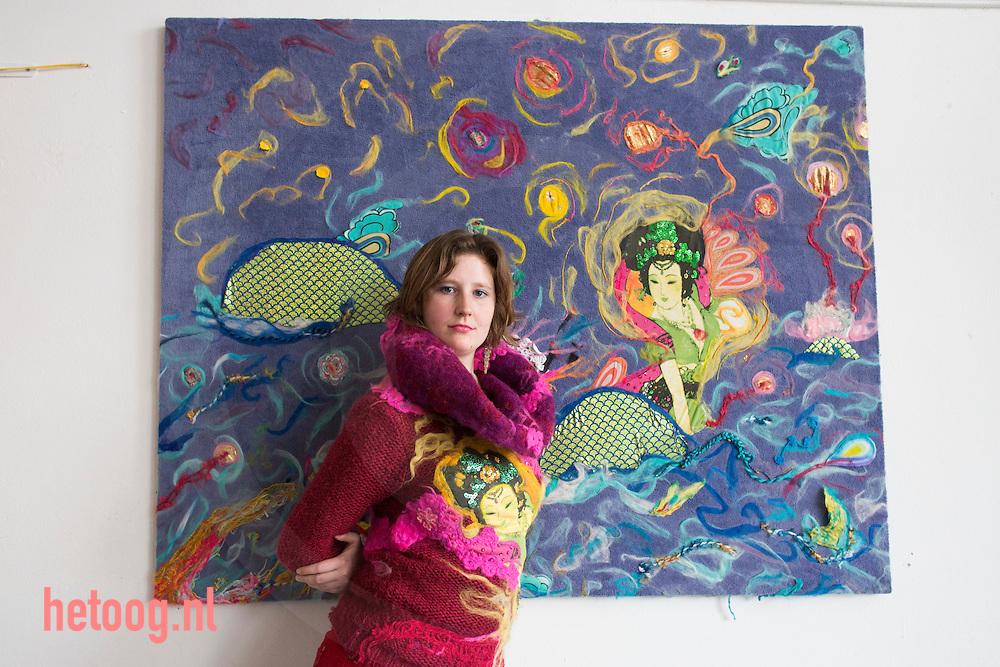 Nederland, Enschede, 19feb2013 )Femke Kloppenburg,Kunstenaar te Enschede. Foto: Cees Elzenga/hetoog.nl