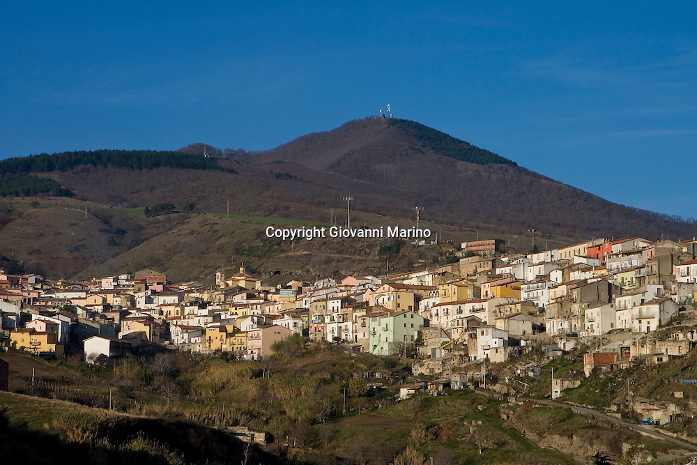 Barile, Basilicata, Italy - The town under the Mount Vulture