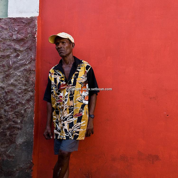 Cape Verde. central market, San felipe, village with traditional colonial portuguese houses  Fogo island     / Cap-Vert:  le marche central, San Filipe, village avec maisons coloniales portugaises;  ile de Fogo   San Felipe, /24