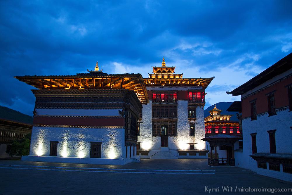 Asia, Bhutan, Thimpu. Tashichhoedzong.