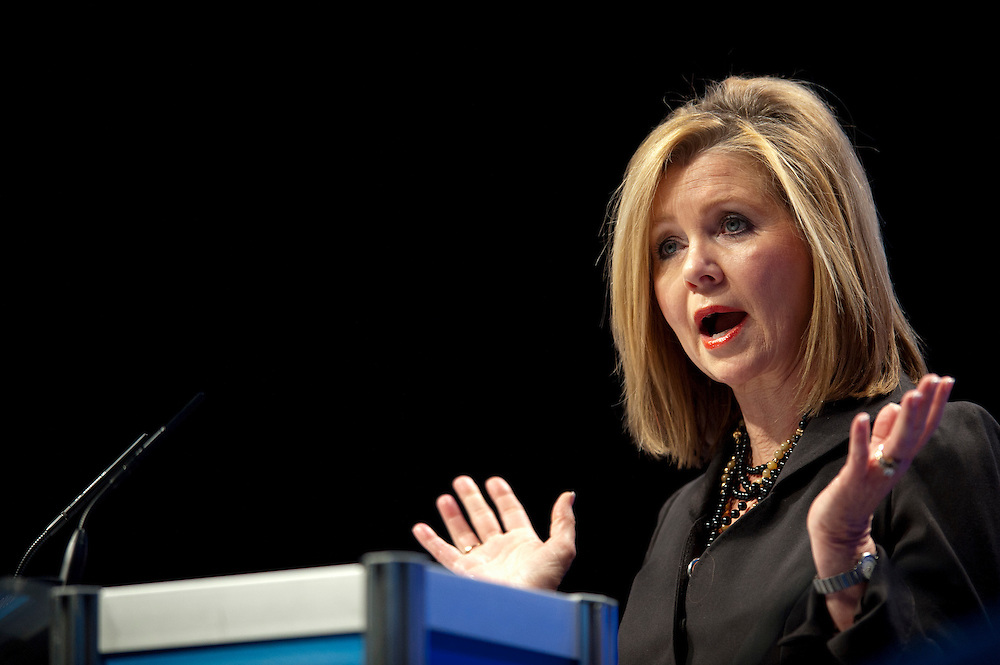 Feb 11, 2011 - Washington, District of Columbia, U.S. - Rep. Marsha Blackburn (R-TN) speaks to conservatives at the the annual Conservative Political Action Conference (CPAC) in Washington, D.C on Friday.  More than 11,000 activists and politicians are expected for the 38th annual conference. The three-day meeting is the largest conservative gathering of the year. (Credit Image: © Pete Marovich/ZUMA Press)