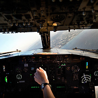 USE ARROWS ( &larr; or &rarr; ) on your keyboard to navigate this slide-show<br /> <br /> Rhodes, Greece 27 June 2010<br /> View of a cockpit during a flight.<br /> Photo: Ezequiel Scagnetti