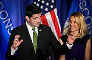 """U.S. Speaker of the House Paul Ryan (R-WI) crosses his fingers during a speech to the crowd at an """"Election Night event"""" in Janesville, Wisconsin, U.S. November 8, 2016. REUTERS/Ben Brewer."""
