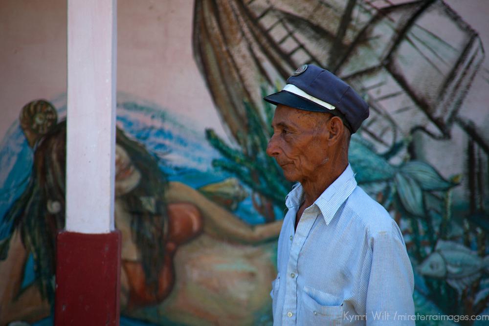 Central America, Cuba, Caibarien. Cuban man in Caibarien.