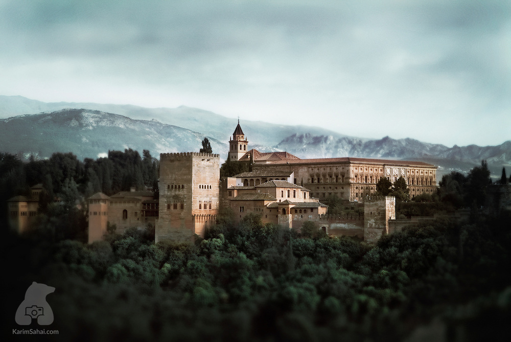 The fortified complex of La Alhambra in Granada, Andalucia, Spain.