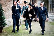 2-11-2013 DELFT - DELFT - De Noorse kroonprins Haakon en zijn zus Martha Louise komen aan bij de Oude kerk voor de herdenkingsbijeenkomst van Prins Friso.  COPYRIGHT ROBIN UTRECHT