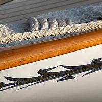 Détails de bateaux classiques. Partie du dragon Fife WINCH, PULLEY, DECK, TECK : THE ART OF CLASSIC YACHTS- VOILIERS CLASSIQUE : DETAILS