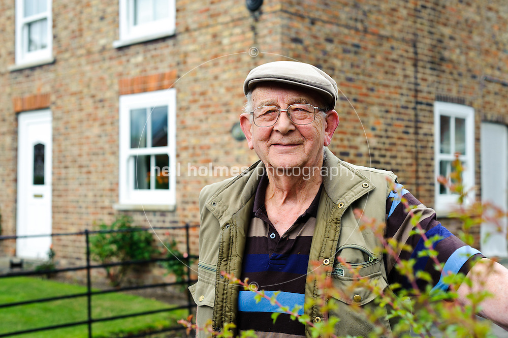 Wilberfoss, Joe Hugill, 82, pictured outside his farmhouse where hew has lived all his life