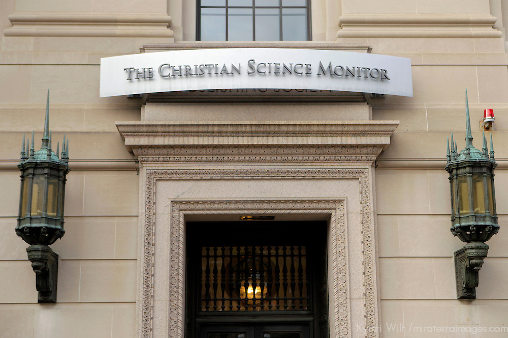 USA, Massachusetts, Boston. Publishing office of the Christian Science Monitor.