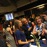 Andrew Matsumoto's family enjoys the Senior Toast event.