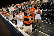 Auburn fans celebrate after the Tigers defeated Mississippi 18-4 to win the SEC Western Division Title during a college baseball in Oxford, Miss. on Friday, May 21, 2010. (AP Photo/Oxford Eagle, Bruce Newman)
