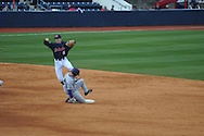 Ole Miss' Lance Wilson (6) vs. TCU at Oxford-University Stadium on Saturday, February 16, 2013. Ole Miss won 5-2.