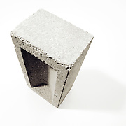single building brick on its end
