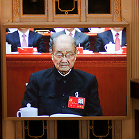 BEIJING, NOV 8, 2012 : Song Ping, a former member of the Standing Committee of the Polit Bureau and member of the 2nd generation of China's leadership,  attends the 18th Party Congress of the CPC ( Communist Party Of China ).